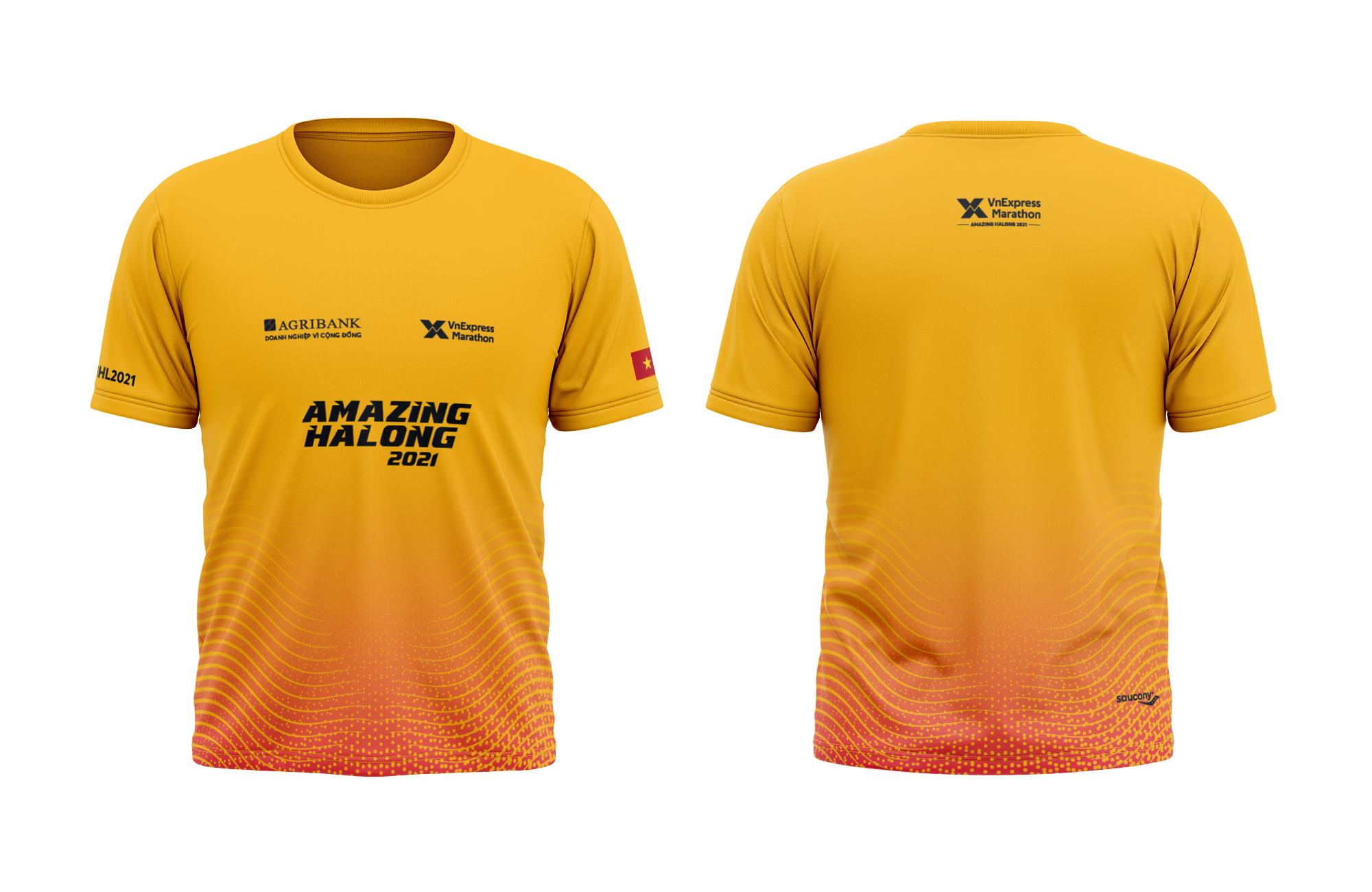 4 cự ly thi đấu sẽ sử dụng áo có màu vàng.