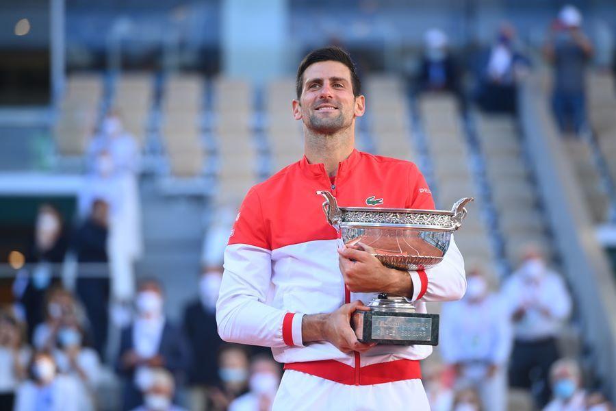 Sejak 2011, Djokovic telah dua kali memenangkan tiga Grand Slam dalam setahun dan empat Grand Slam dalam setahun.  Gambar: