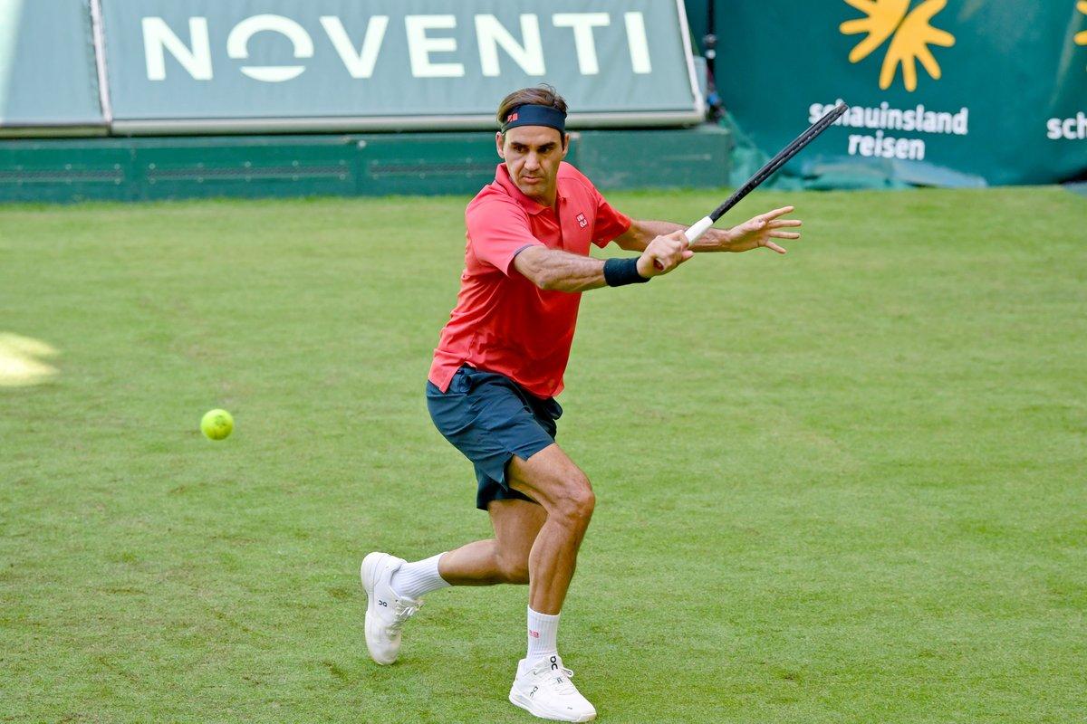 Federer lần thứ 18 góp mặt ở Halle Mở rộng - giải đấu anh vô địch nhiều nhất. Ảnh: ATP