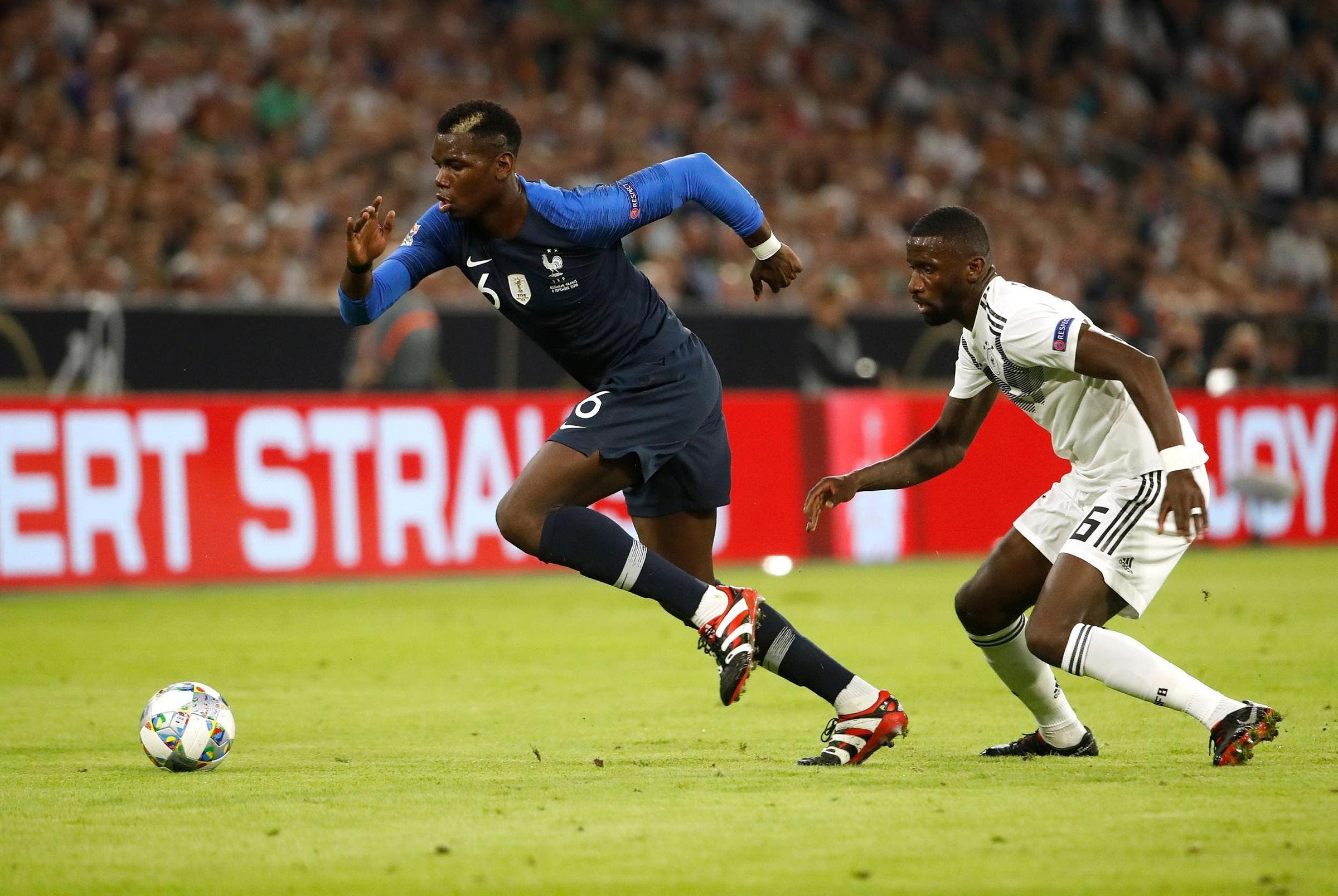 Pháp từng thắng Đức 2-1 ở lần chạm trán gần nhất, tại Nations League hôm 16/10/2018. Ảnh: AFP