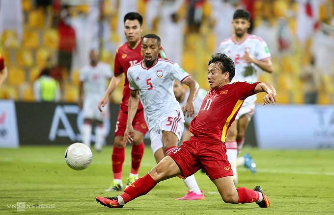 Tiền vệ Trần Minh Vương đã có pha kiến tạo và ghi bàn sau khi thay người trong hiệp 2. Ảnh: Lâm Thoả.