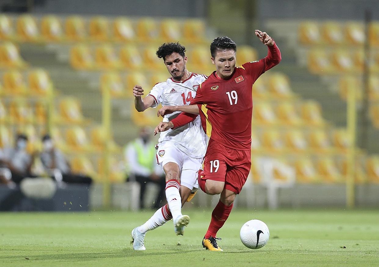 """เวียดนามชนะห้า เสมอสอง และแพ้หนึ่งในรอบคัดเลือกรอบที่สองของฟุตบอลโลก  ภาพถ่าย: """"Lam Thoa ."""""""