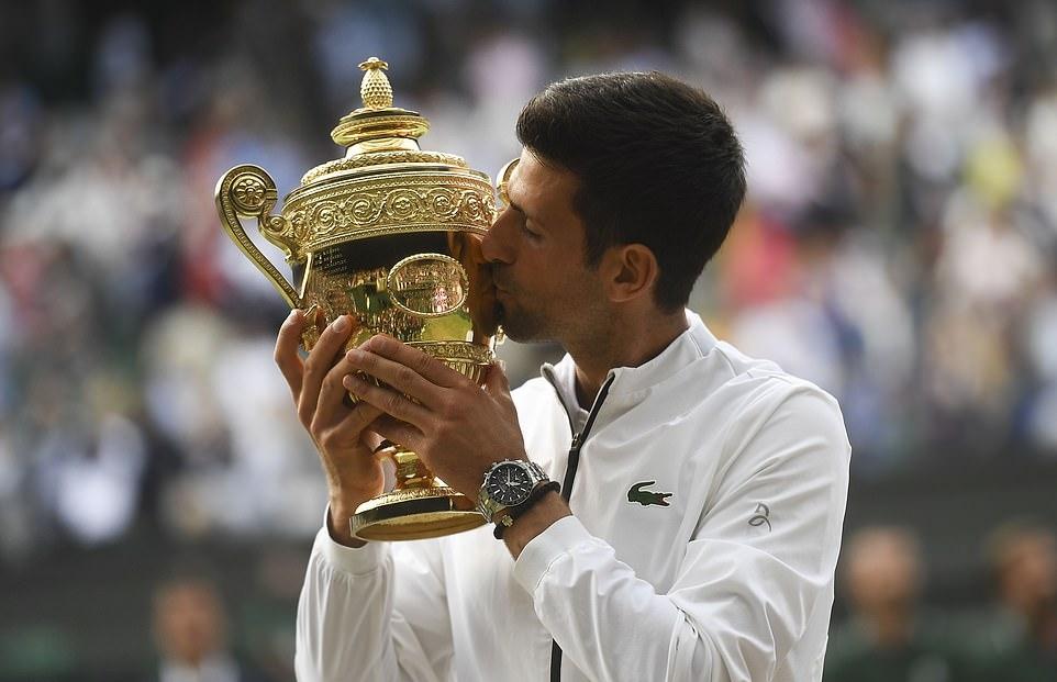Nếu giành Wimbledon tháng tới, Djokovic sẽ san bằng kỷ lục 20 Grand Slam. Ảnh: Wimbledon