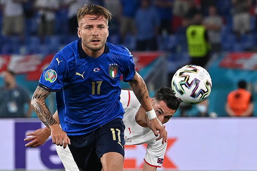 Immobile là cầu thủ đầu tiên ghi bàn liền trong hai trận đầu của Italy tại một giải đấu lớn (Euro và World Cup) từ sau Christian Vieri ở World Cup 2002. Ảnh: Mediaset
