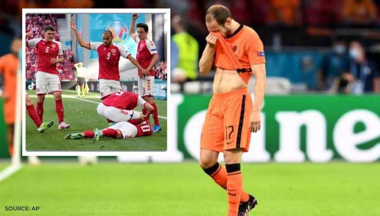 Blind từng rất lo lắng sau khi Eriksen đổ gục, nhưng vẫn vượt qua trở ngại tinh thần đó để thi đấu tốt trong trận Hà Lan thắng Ukraine. Ảnh: AP