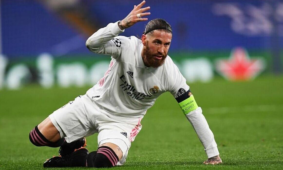 Ramos không còn đóng góp nhiều cho Real trong mùa 2020-2021 vừa qua. Ảnh: EFE