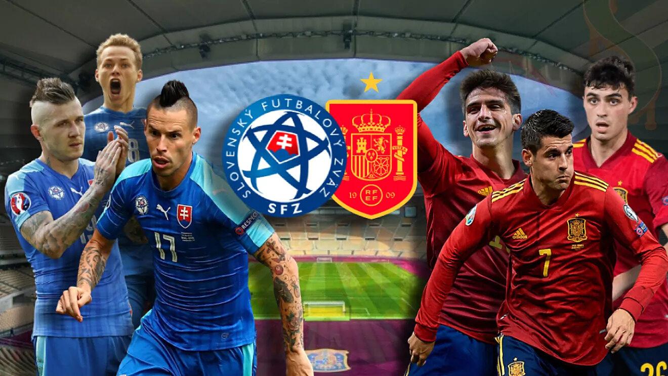 """สโลวาเกีย (ซ้าย) และสเปนต่างต้องการผลลัพธ์ที่ดีเพื่อความก้าวหน้า  ภาพถ่าย: """"Marca ."""""""
