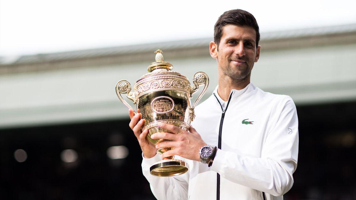 Nếu bảo vệ thành công chức vô địch Wimbledon, Djokovic sẽ san bằng kỷ lục 20 Grand Slam của Nadal và Federer. Ảnh: Wimbledon