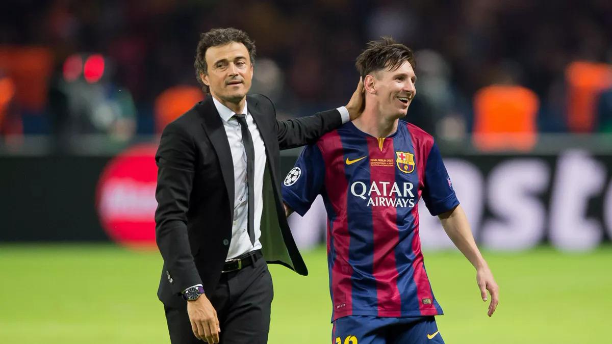 Enrique และ Messi ชนะ Champions League 2015 ภาพ: imago