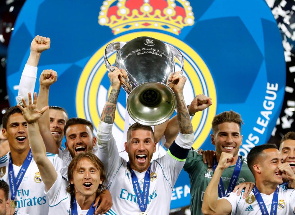 Ramos memenangkan empat Liga Champions bersama Real.  Foto: Reuters.