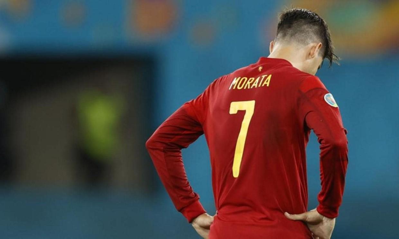 โมราต้ากลายเป็นแพะรับบาปเมื่อทีมสเปนผิดหวัง  ภาพ: สำนักข่าวรอยเตอร์