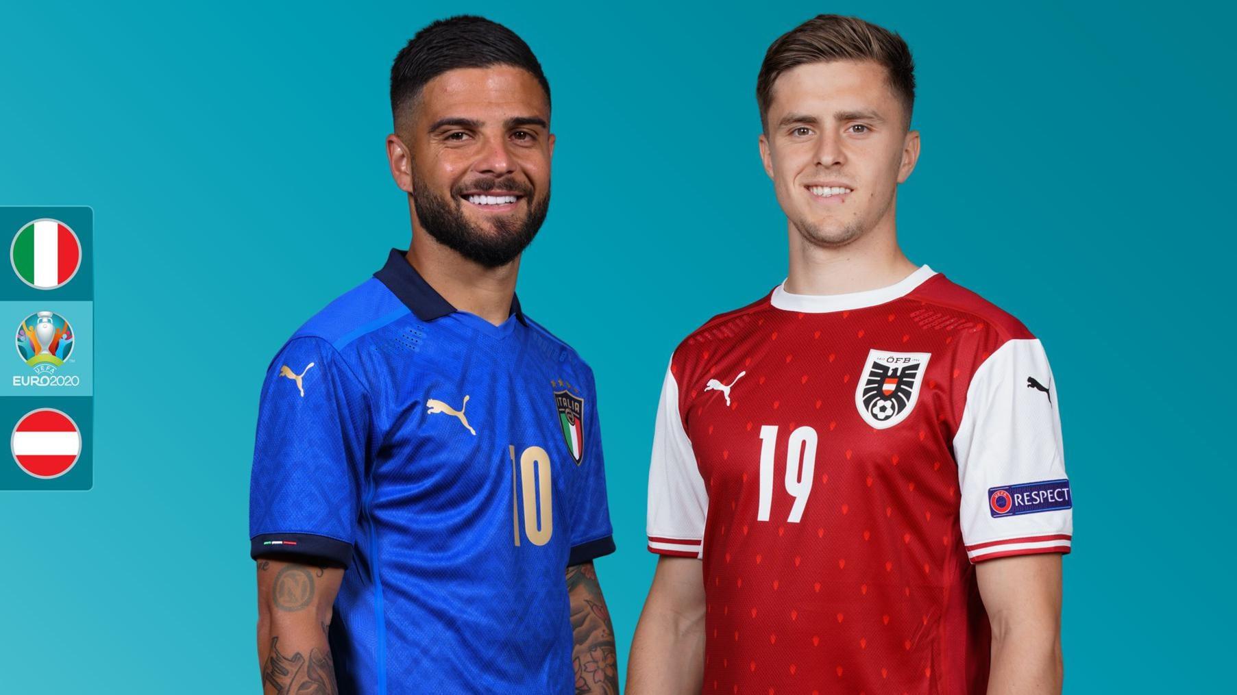 Trận Italy - Áo sẽ diễn ra trên sân Wembley lúc 2h Chủ nhật 27/6, giờ Hà Nội.