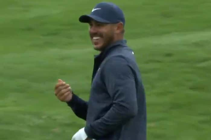 Koepka made the gesture of counting money when mentioning the name of junior Justin Thomas.