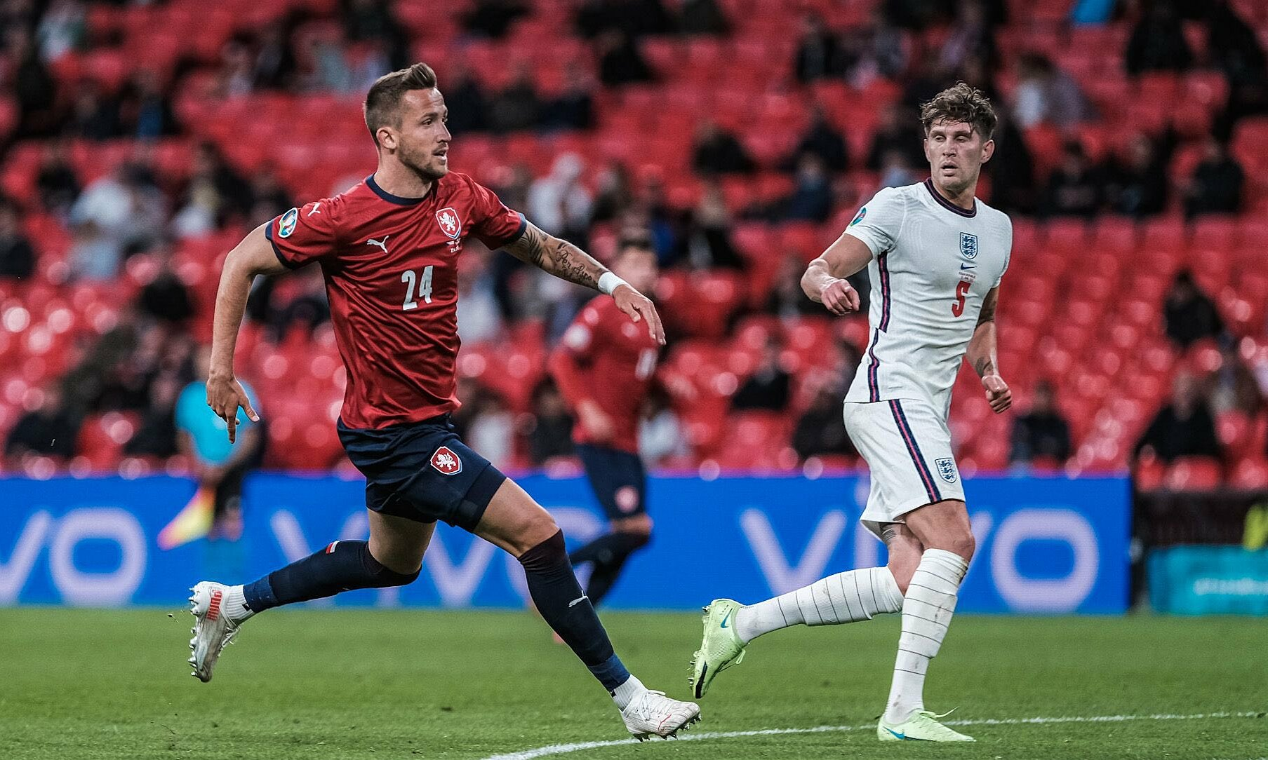 CH Czech gây nhiều khó khăn cho tuyển Anh trong trận cuối bảng D Euro 2021 hôm 22/6. Ảnh: Twitter / Ceskarepre