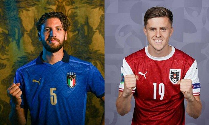 Manuel Locatelli (trái) và Christoph Baumgartner là hai tiền vệ trẻ đáng xem của Italy và Áo. Ảnh: The Athletic