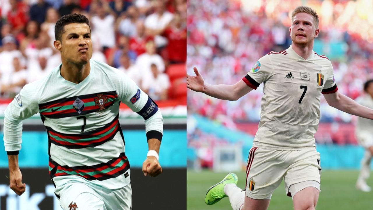Bồ Đào Nha có Ronaldo, còn Bỉ cũng có De Bruyne. Ảnh: The18