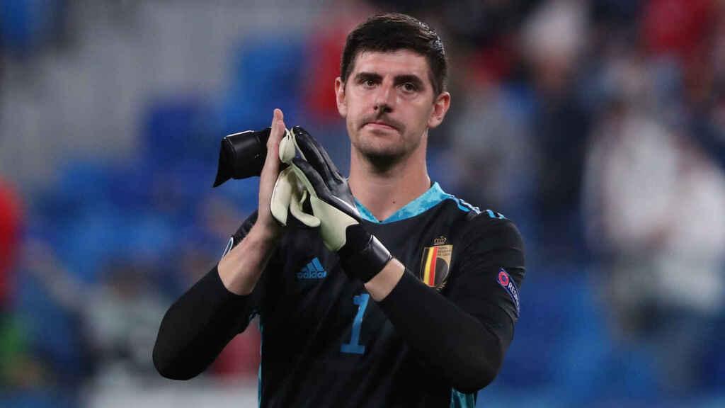 Courtois giữ sạch lưới dù đối mặt sáu pha dứt điểm trúng hướng khung thành từ các cầu thủ Bồ Đào Nha. Ảnh: Sky