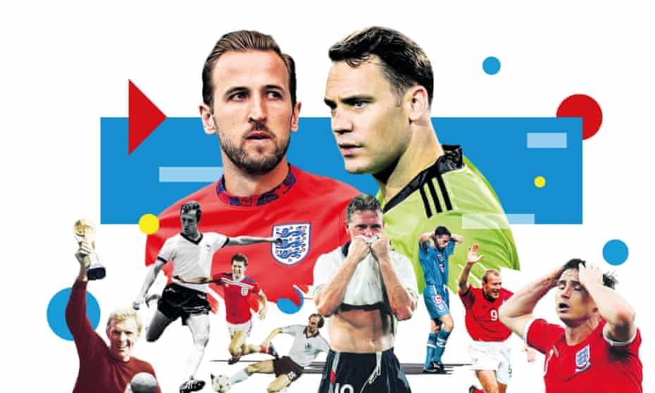 Rekor head-to-head antara kedua belah pihak sama dengan masing-masing tim memenangkan 13 pertandingan dan seri enam, tetapi dalam 10 tahun terakhir, Jerman sedikit lebih baik dari Inggris.  Foto: Wali