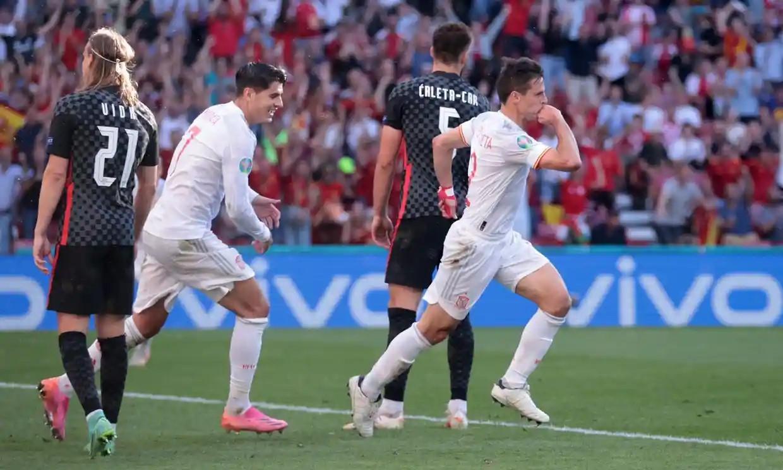 Azpilicueta mencetak gol pertamanya untuk Spanyol.  Foto: Reuters.