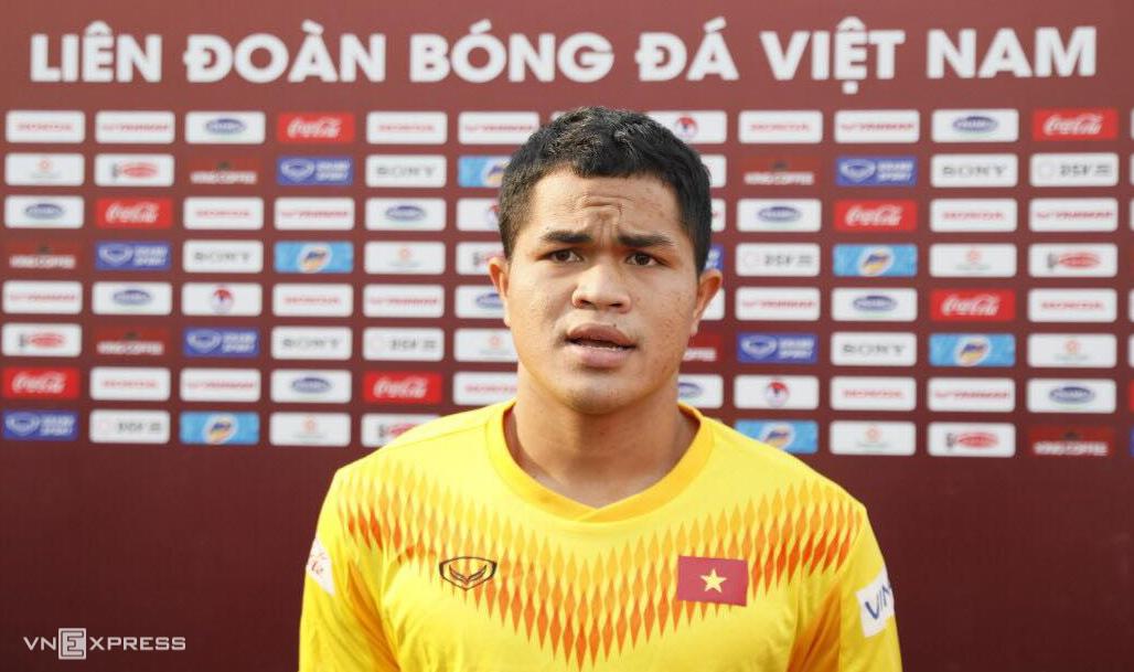 Dụng Quang Nho từng được HLV Park Hang-seo cho đảm nhiệm vai trò đội trưởng U22 Việt Nam trong đợt hội quân tháng 8/2020. Ảnh: Lâm Thoả
