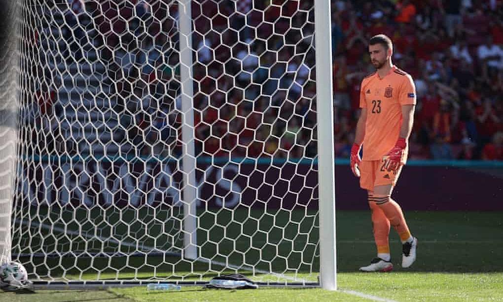 Unai Simon là thủ môn thứ tư phản lưới trong lịch sử Euro, và cả bốn trường hợp này đều đến năm 2021. Ảnh: Reuters