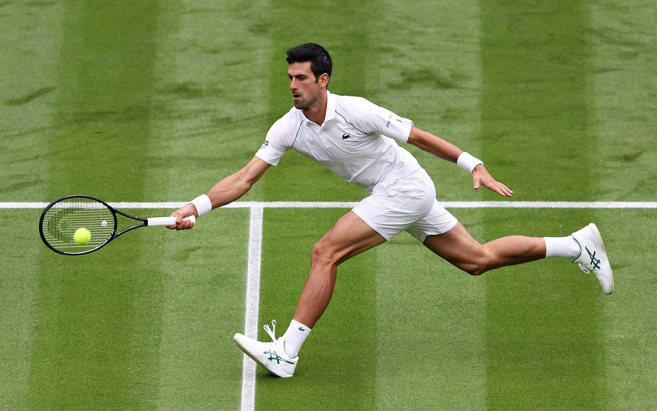 Djokovic chưa thua trận nào tại Grand Slam năm 2021. Ảnh: Telegraph
