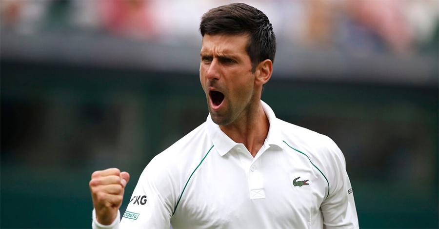 Djokovic chỉ cần 1 tiếng 44 phút để vượt qua Anderson tại vòng hai Wimbledon. Ảnh: Sky
