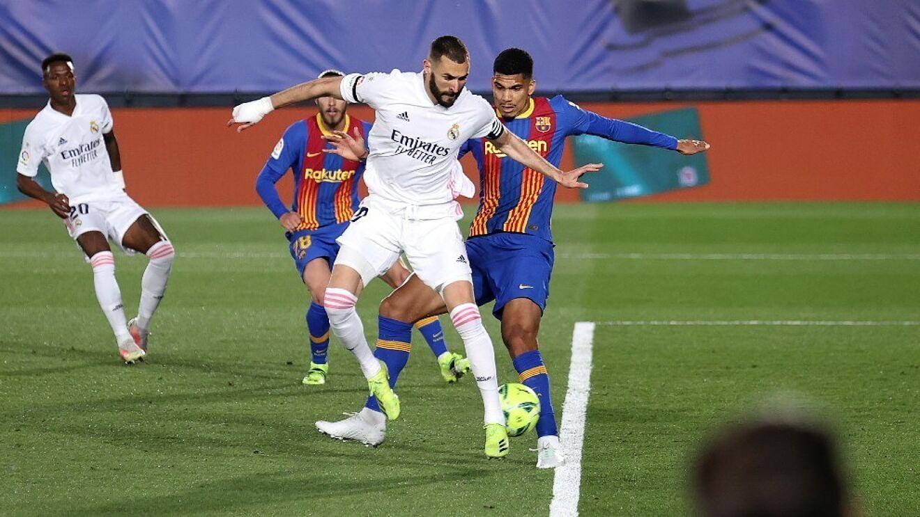 Trong hai trận El Clasico tại La Liga mùa trước, Real thắng cả hai, 3-1 tại Camp Nou ở lượt đi và 2-1 trên sân nhà Di Stefano ở lượt về. Ảnh: Marca