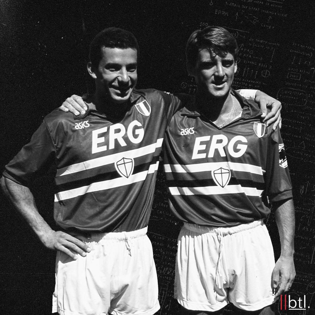 Mancini dan Vialli masih melayani Sampdoria bersama.  Foto: BTL
