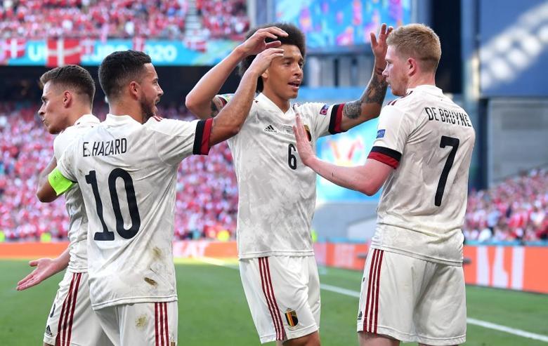 Belgia memiliki banyak bintang yang bermain bersama selama bertahun-tahun seperti De Bruyne, Witsel, Hazard.  Foto: Reuters.