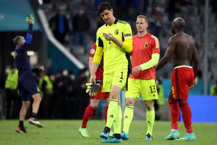 Courtois và đồng đội phải dừng chân ở tứ kết Euro 2021. Ảnh: Belga.
