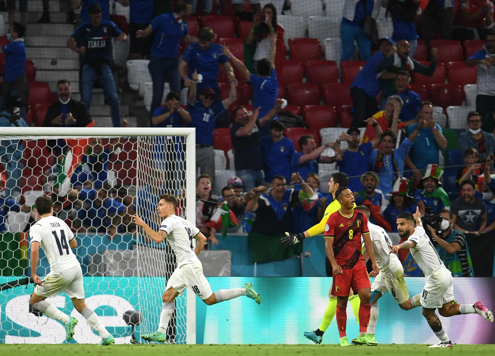 Chiến thắng trước Bỉ giống một tuyên ngôn của Italy và Mancini về con đường mà họ đã chọn để phục hưng đội tuyển. Ảnh: EPA