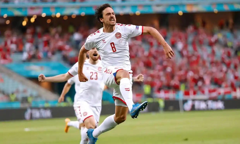 Gol awal Delaney membuat Denmark mendominasi pertandingan.  Foto: Reuters.