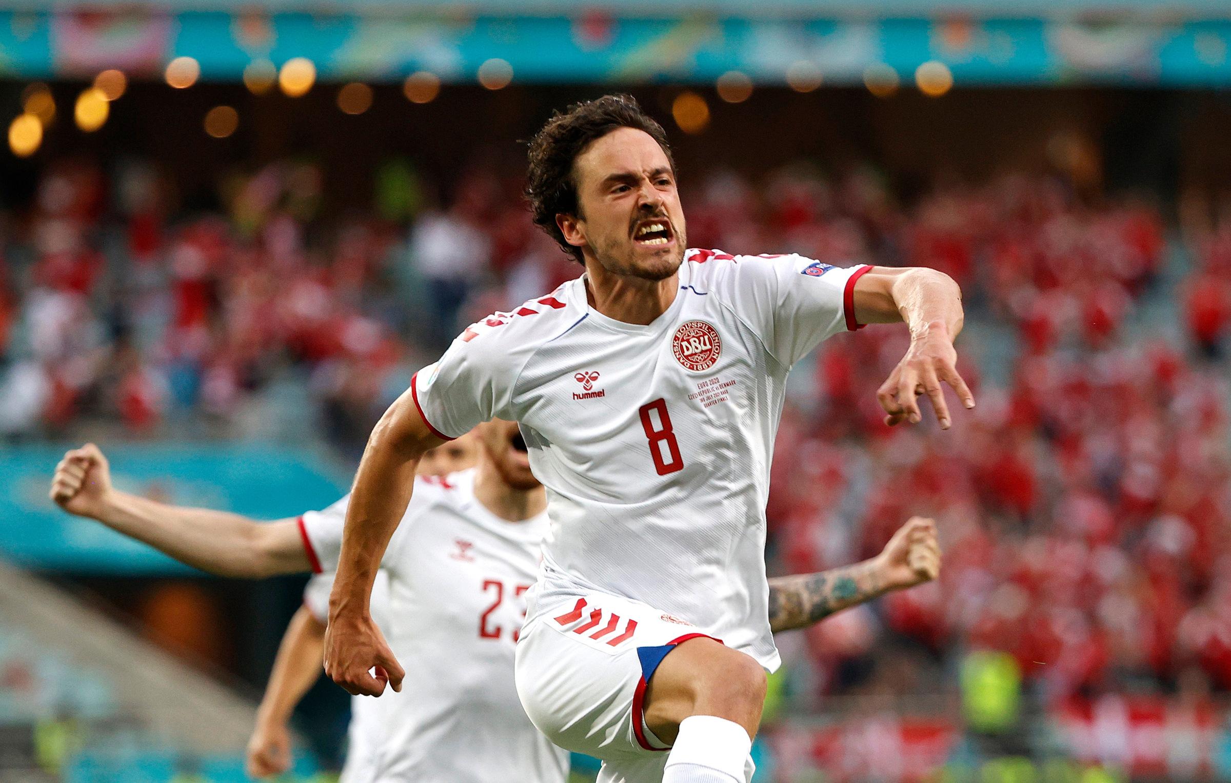 Delaney memainkan 59 pertandingan, mencetak enam gol untuk Denmark pada akhir perempat final Euro 2021 pada 3 Juli.  Foto: Reuters