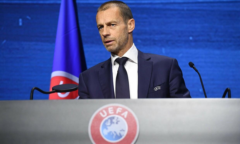 Chủ tịch UEFA Aleksander Ceferin khó thực hiện mong muốn trừng phạt Real, Barca và Juventus. Ảnh: Reuters.