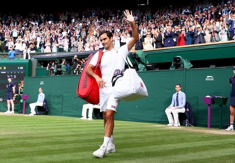 Federer kalah 0-3 di Wimbledon untuk ketiga kalinya, setelah kalah di babak pertama pada tahun 2000 dan 2002. Foto: ATP