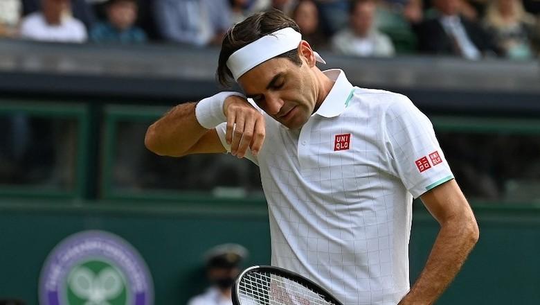 Federer memukul dirinya sendiri 31 kali saat kalah dari Hurkacz.  Foto: ATP