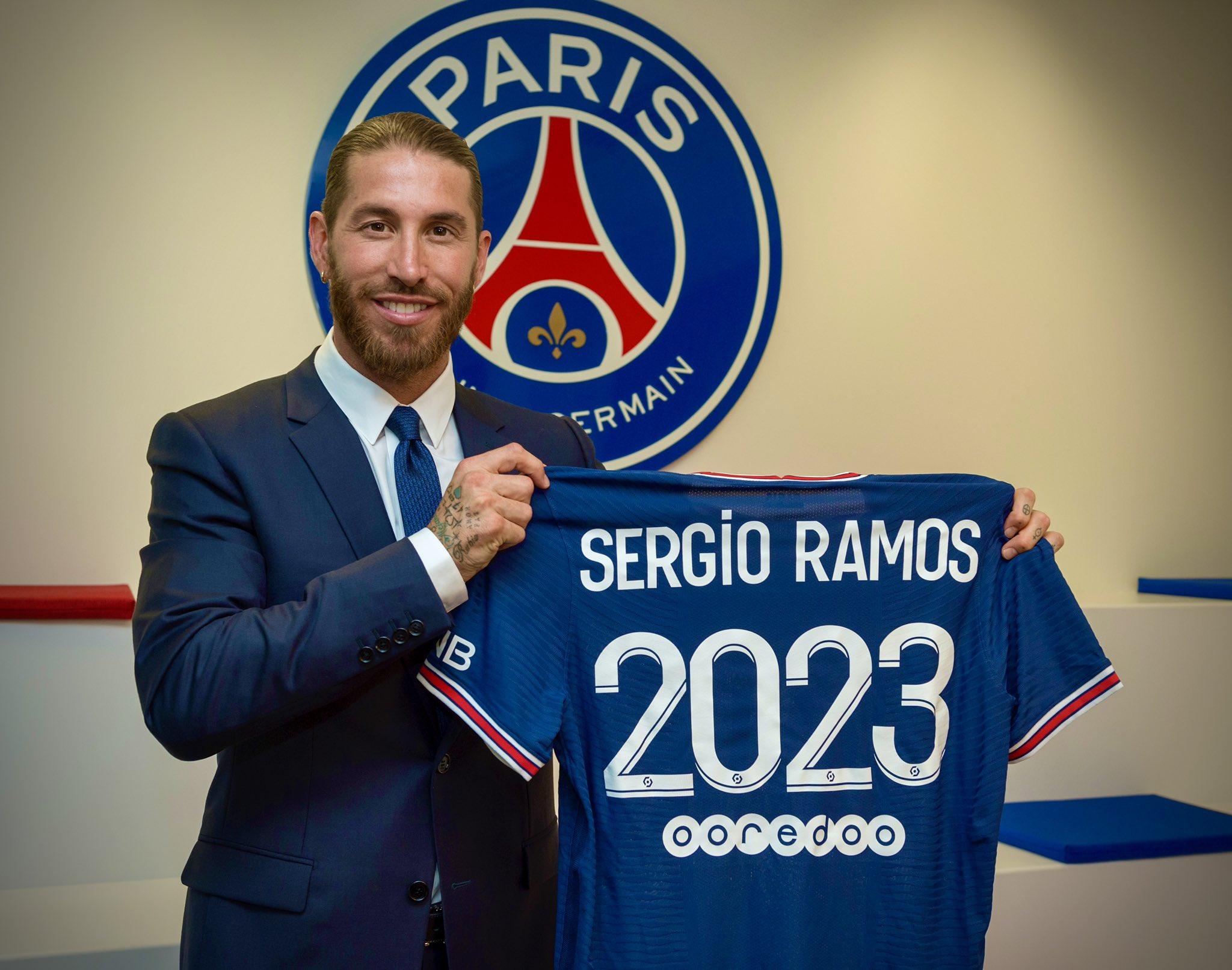 Sergio Ramos ra mắt tại Paris hôm nay 8/7.
