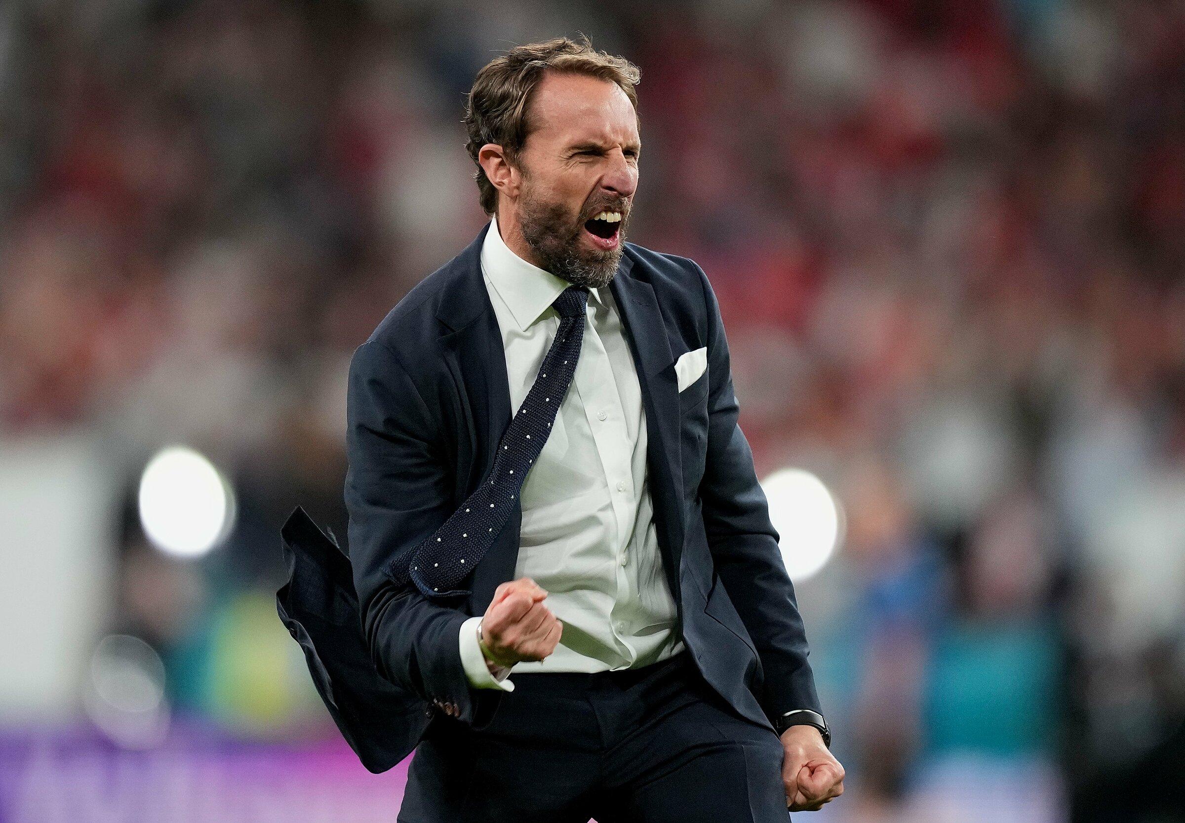 Southgate muốn các học trò nhanh chóng tập trung cho trận chung kết với Italy ngày 11/7. Ảnh: UEFA