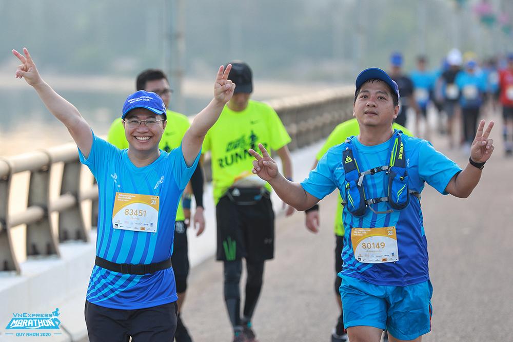 Runner tham dự một giải chạy của VnExpress tại Quy Nhơn. Ảnh: VnExpress Marathon.