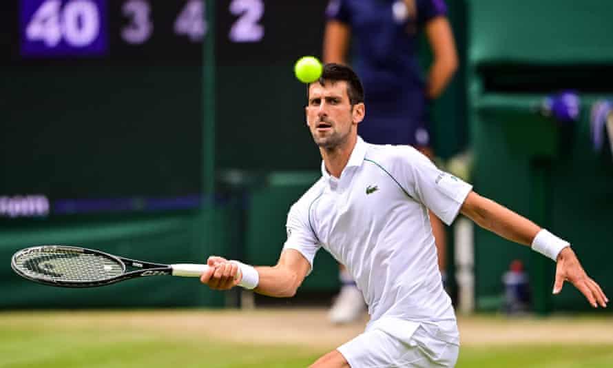 Djokovic đang thể hiện phong độ hủy diệt ở Wimbledon. Ảnh: ATP