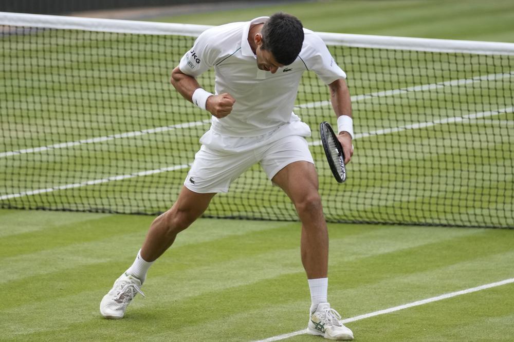 Djokovic có 33 winner và chỉ mắc 15 lỗi tự đánh hỏng. Ảnh: AP