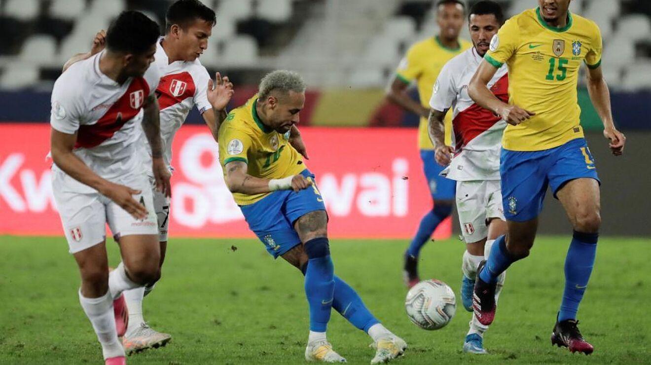 Neymar đang là điểm sáng của Brazil tại Copa America 2021. Ảnh: AFP