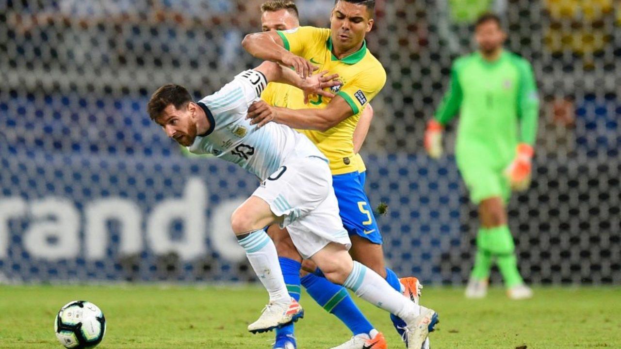 Mess từng cùng Argentina thua Brazil ở bán kết Copa America 2019. Ảnh: AP