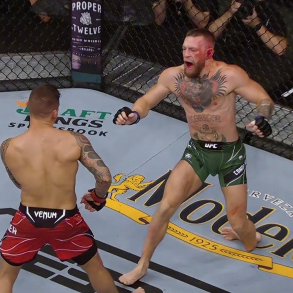 The decisive moment that made McGregor lose to Poirier.
