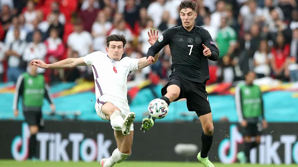 Maguire adalah pemimpin pertahanan Inggris, hanya kebobolan satu gol sejak awal Euro 2021. Foto: PA