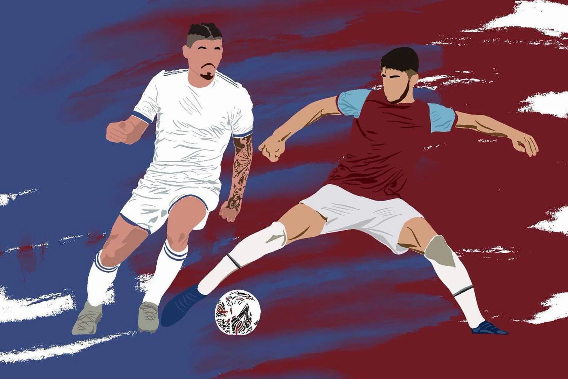 Trước Euro 2021, những Kalvin Phillips (áo trắng) và Declan Rice (áo sẫm) không được nhiều người biết đến. Nhưng hành trình tại giải đấu có thể nâng tầm sự nghiệp và danh tiếng của họ. Ảnh: SB Nation