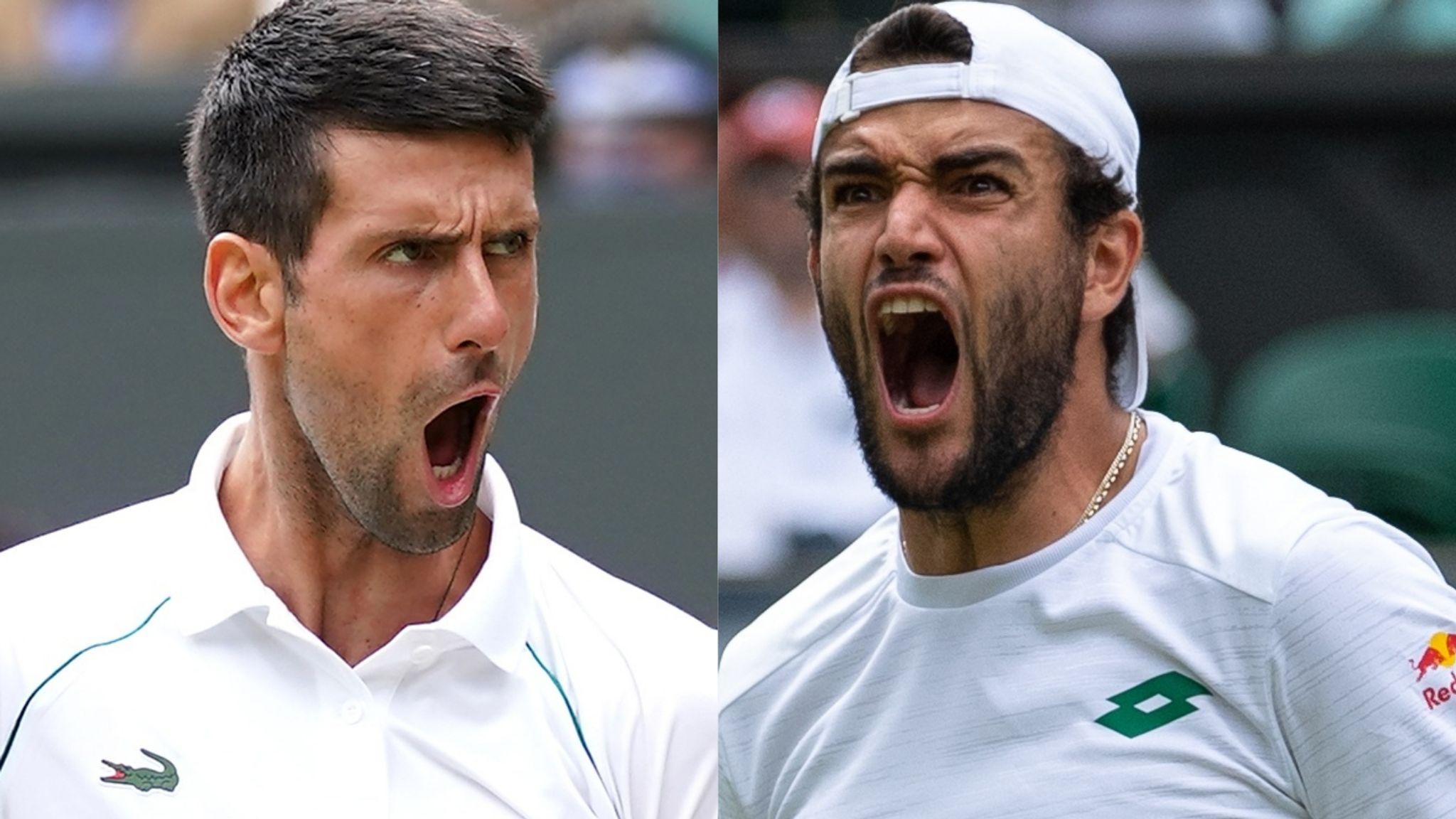 Djokovic (trái) thắng năm trong sáu trận chung kết Wimbledon. Ảnh: Sky