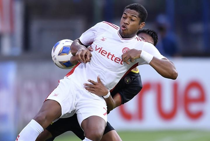 "Caique ทำแต้มเพื่อช่วย Viettel ออกจากการแข่งขันด้วยชัยชนะ  ภาพถ่าย: ""Viettel FC."