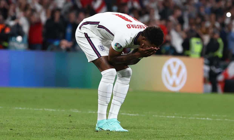 Rashford adalah satu dari tiga pemain Inggris yang gagal dalam adu penalti.  Foto: Kumpulan Surat Kabar Richard Pelham/EURO 2020